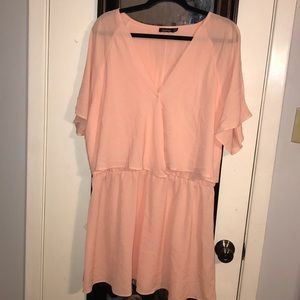 Boohoo Peach Mini Dress